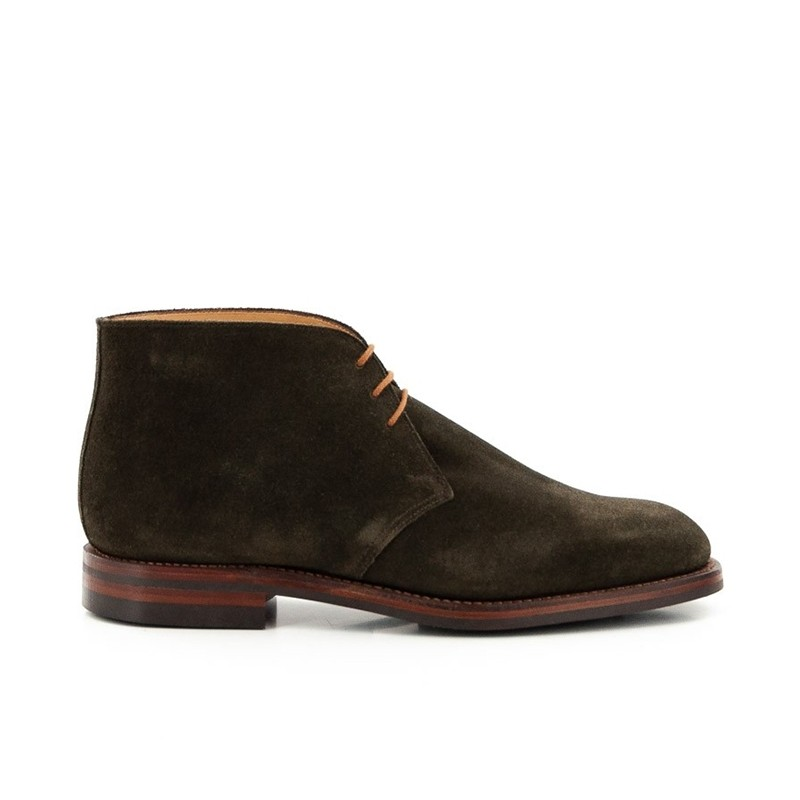 crockett & jones nouveautés boots et bottillons Bottines Chiltern IIC&J CHILTERN - SUEDE - GREEN