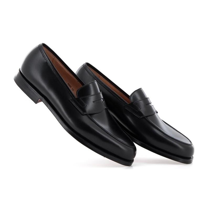crockett & jones mocassins et slippers Mocassins GranthamC&J GRANTHAM - CUIR - BLACK