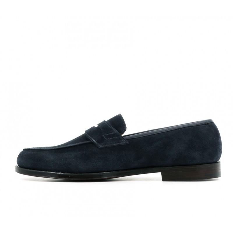 crockett & jones mocassins et slippers Mocassins GranthamC&J GRANTHAM - SUEDE - OCEAN