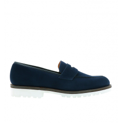 crockett & jones mocassins et slippers Mocassins HenleyC&J HENLEY - SUEDE - OCEAN