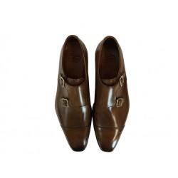 crockett & jones promotions chaussures à boucles Double-boucle Montpellier 2C&J MONTPELIER 2 - CUIR - TAN