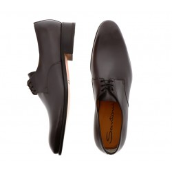 santoni promotions derbies et richelieux Derby CarterCARTEGE - CUIR SOUPLE - ANTHRACI
