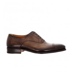 santoni derbies et richelieux Richelieux LevanteLEVANDI - CUIR PATINÉ - MARRON