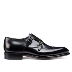 santoni nouveautés chaussures à boucles Double-boucle CarterCART - CUIR - NOIR (DISPONIBLE S