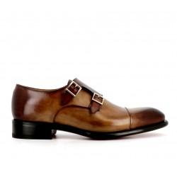 santoni nouveautés chaussures à boucles Double-boucle CarterCART - CUIR DÉLAVÉ - GOLD