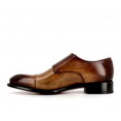 santoni chaussures à boucles Double-boucle CarterCART - CUIR DÉLAVÉ - GOLD