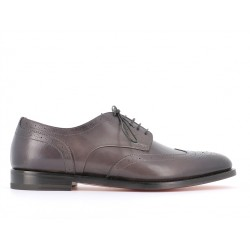 santoni promotions derbies et richelieux DerbyWILDER - CUIR PATINÉ - GRIS