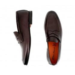 santoni mocassins et slippers MocassinsCARLOS - CUIR SOUPLE GRAINÉ - CH