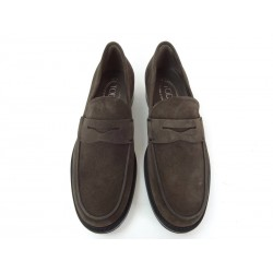 tod's mocassins et slippers Mocassins CollegeCOLLEGE - NUBUCK - CHOCOLAT