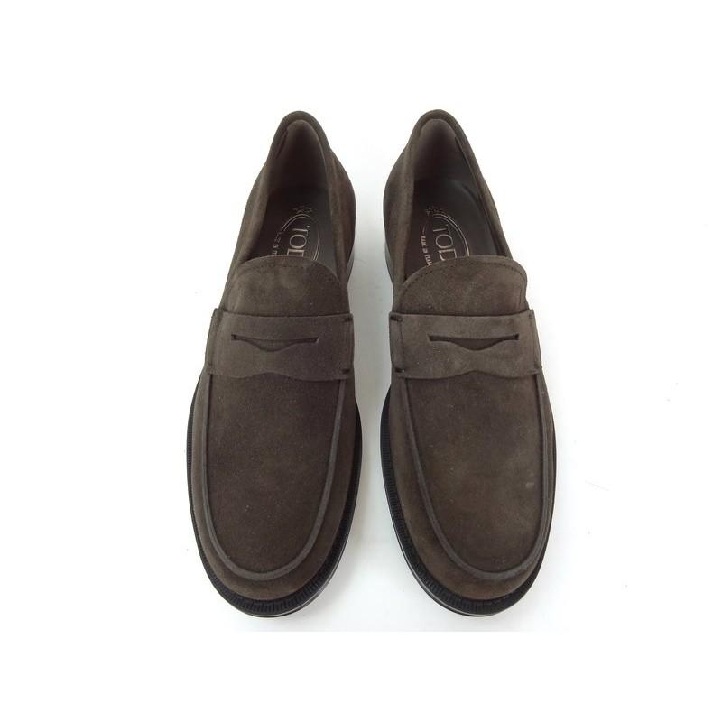 tod's mocassins et slippers Mocassins CollegeCOLLEGE - NUBUCK - CHOCOLAT