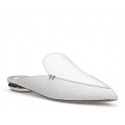 nicholas kirkwood mocassins & slippers Mocassins BeyaK BEYA MULE - CUIR GRAINÉ - BLAN