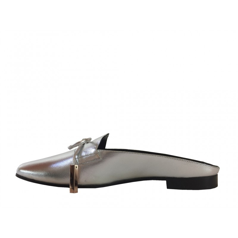 pierre hardy mocassins & slippers Mocassins MademoisellePHF MULE MLLE - CUIR - ARGENT