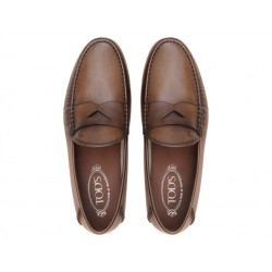 tod's promotions mocassins MocassinsPEMTO 2 - CUIR - CACAO