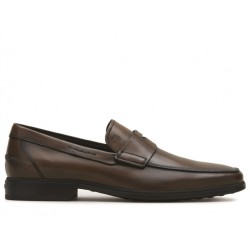 tod's mocassins et slippers MocassinsRIALTO2 - CUIR PATINÉ - MARRON