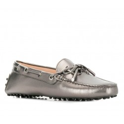 tod's mocassins & slippers Mocassins Gommino à lacetsLASSIE LOGO - CUIR - ARGENT