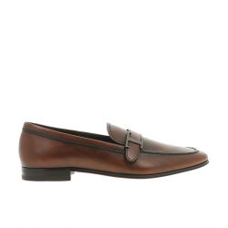 tod's mocassins et slippers Mocassins Double TRIALTY 2 - CUIR PATINÉ - CACAO