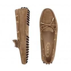 tod's mocassins & slippers Mocassins Gommino à lacetsLASSIE - NUBUCK - TABAC