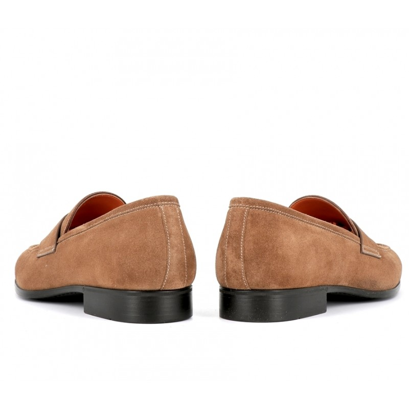 santoni mocassins et slippers Mocassins SimonSIMOC - NUBUCK - CHAMOIS