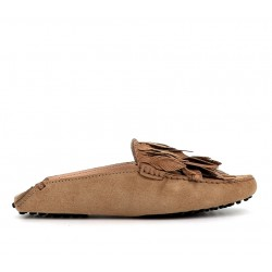 tod's promotions mocassins Mocassins GomminoTIPLUME - NUBUCK - TABAC