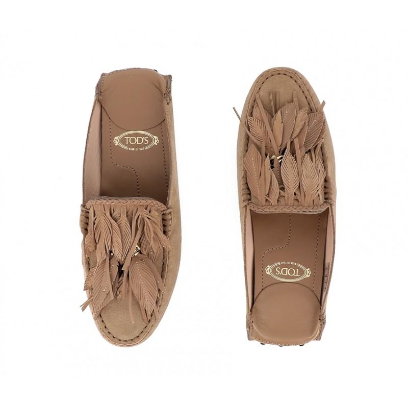 tod's mocassins & slippers Mocassins GomminoTIPLUME - NUBUCK - TABAC