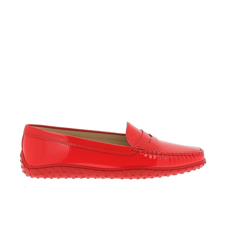 tod's mocassins & slippers MocassinsT BAT - CUIR VERNI. - CORAIL