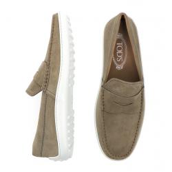 tod's mocassins et slippers MocassinsTODBAS 2 - NUBUCK - TAUPE