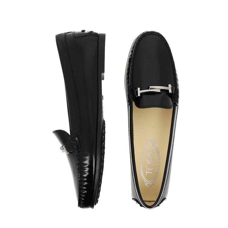 tod's mocassins & slippers Mocassins City GomminoTODTIE SLLE - CUIR GLACÉ - NOIR