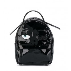 chiara ferragni promotions sacs à dos Back Pack MiniCF BACKPACK MINI - VERNIS - NOIR
