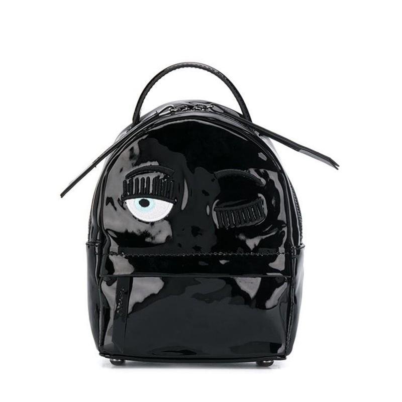 chiara ferragni sacs à dos Back Pack MiniCF BACKPACK MINI - CUIR VERNI. -