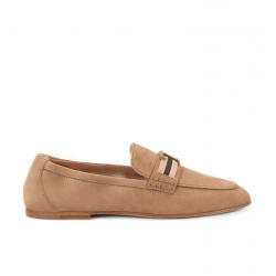 tod's mocassins & slippers Mocassins TTODTIE ELAS 2 - NUBUCK - BEIGE E