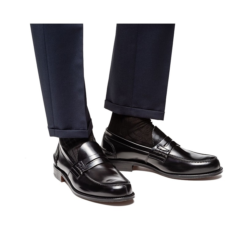 Churchs - Mocassins - Tunbridge - Cuir Bookbinder Fumé Black