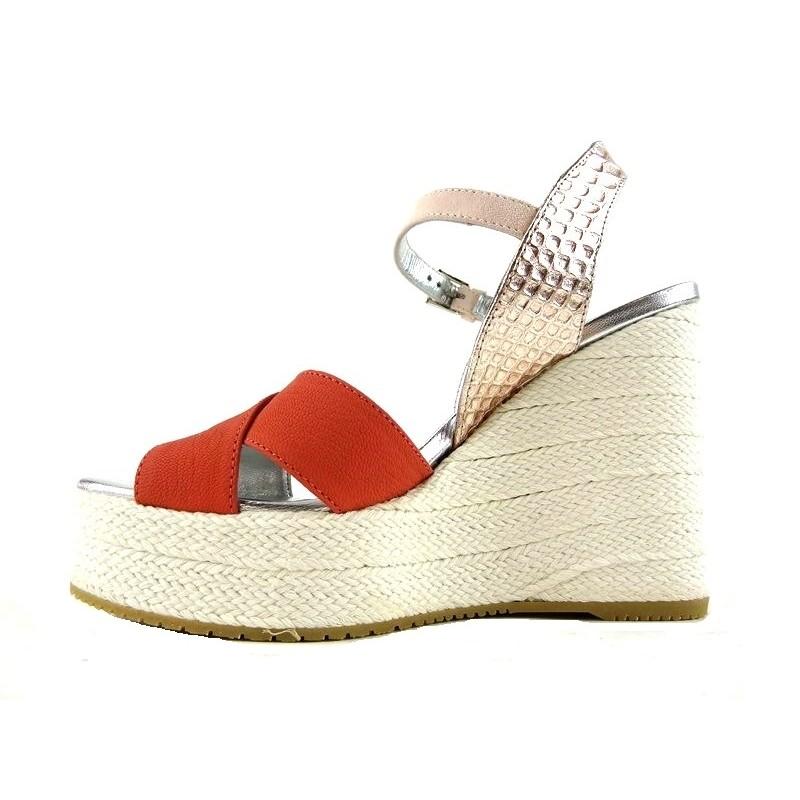 hogan sandales SandalesCARITA - CUIR ET NUBUCK - CORAIL