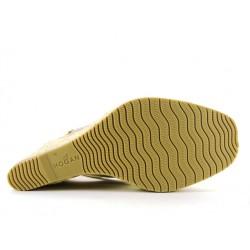 hogan promotions sandales SandalesCAPRA - CUIR ET VERNIS - NUDE ET