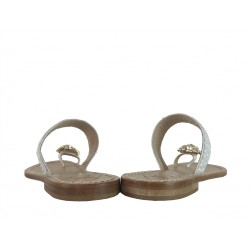 emanuela caruso promotions sandales SandalesCARU BAGUE T58 - CUIR - BLANC
