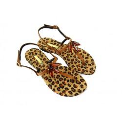 Emanuela Caruso promotions sandales SandalesCARU P59A - CUIR ET BIJOUX - GOL