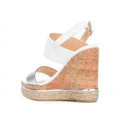hogan sandales SandalesCANIS - CUIR - ARGENT ET BLANC