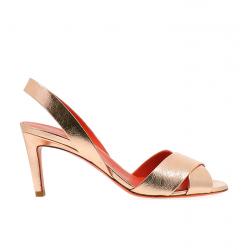 santoni nouveautés sandales Sandales EmiEMI T7 - CUIR IRISÉ - OR ROSE
