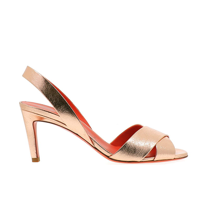 santoni sandales Sandales EmiEMI T7 - CUIR IRISÉ - OR ROSE