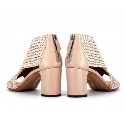 casadei sandales SandalesCASA PEEP TRESSE T6 - CUIR TRESS
