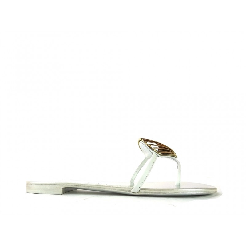 giuseppe zanotti promotions sandales SandalesGZ F MULE COQUILLAGE - CUIR - OR