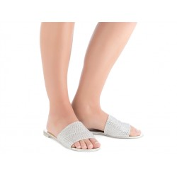 giuseppe zanotti promotions sandales Sandales AdeliaGZ F MULE PLAT - GLITTER - ARGEN