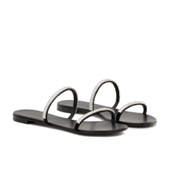 giuseppe zanotti nouveautés sandales Sandales Croisette CrystalGZ F MULE STRASS (1) - NUBUCK ET
