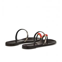 giuseppe zanotti nouveautés sandales Sandales Ring GemGZ F MULE PIERRE - CUIR IMPRIMÉ