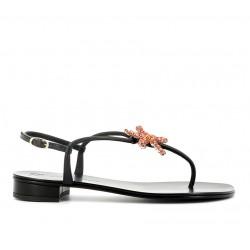giuseppe zanotti promotions sandales Sandales à bijouxGZ F NU-PIED BIJOUX2 - CUIR ET B