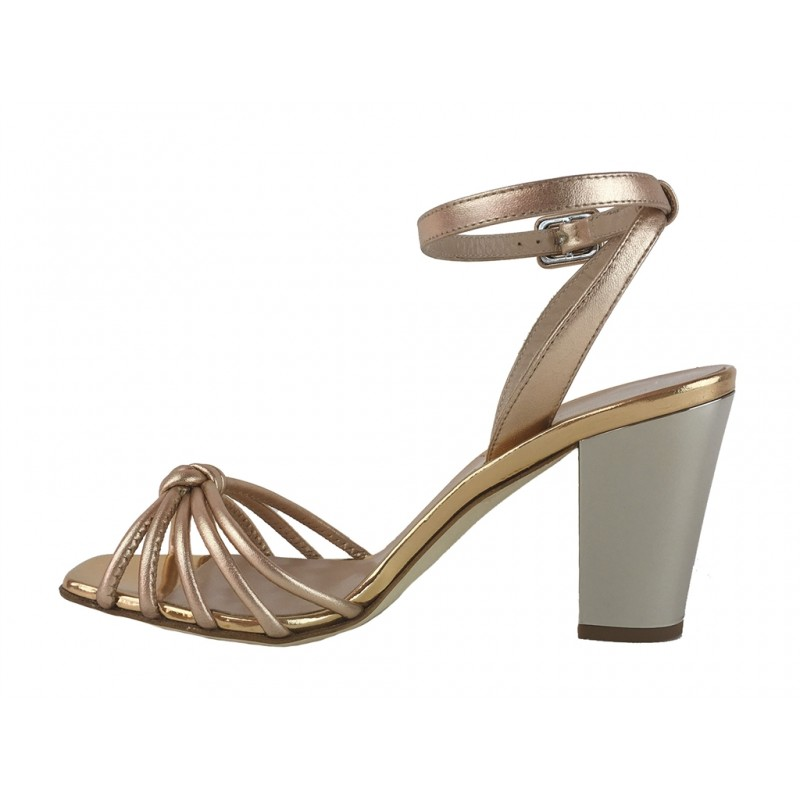 giuseppe zanotti sandales Sandales à talon 80 mmGZ F SAND NOEUD T8 - CUIR - RAMI