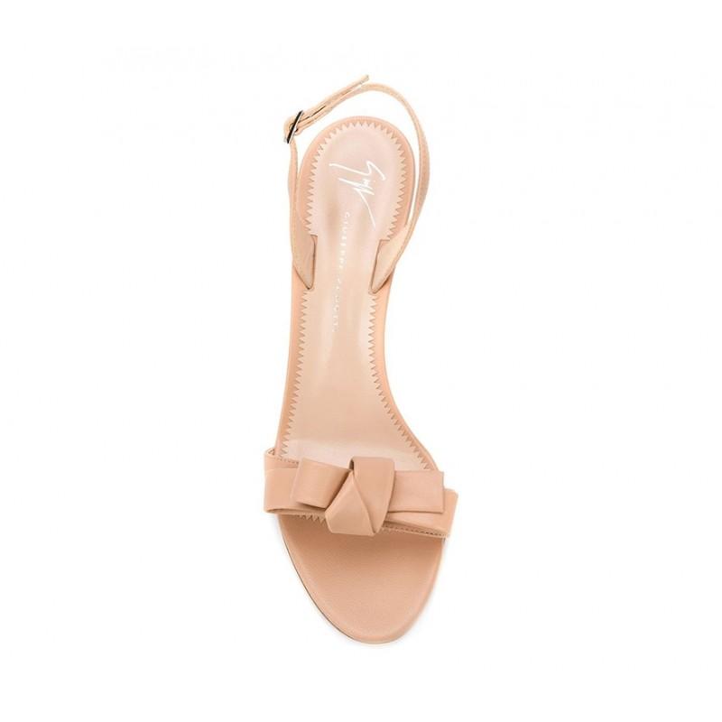giuseppe zanotti sandales Sandales à talon 80 mmGZ F SAND NOEUD T85 - CUIR - NUD