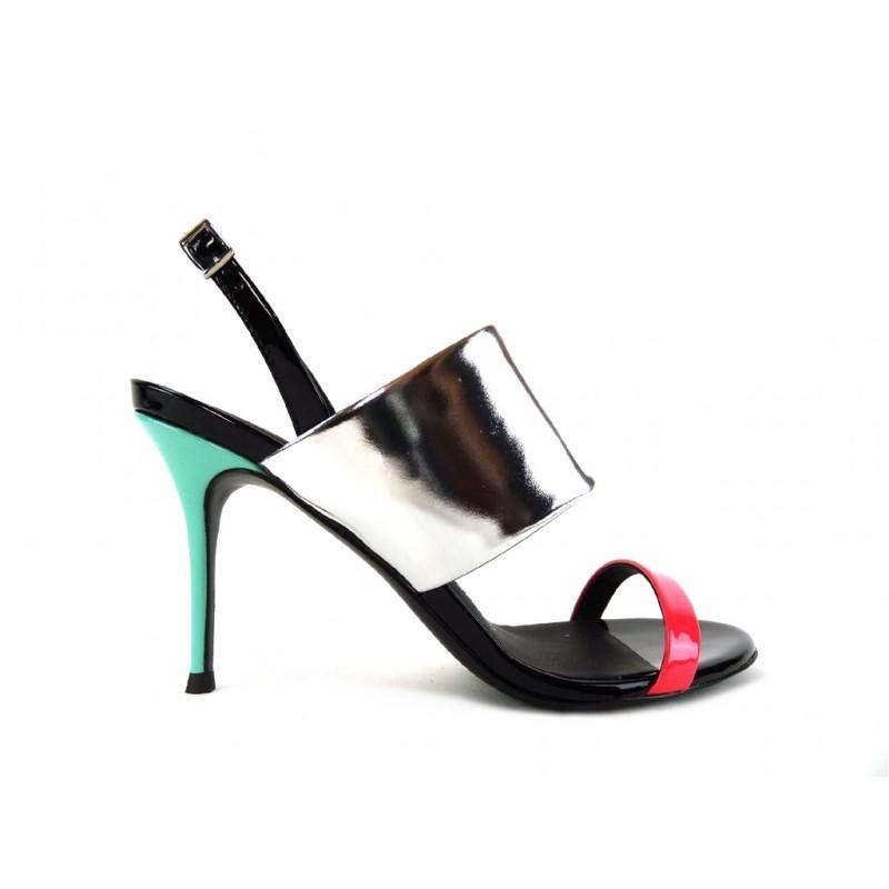 giuseppe zanotti promotions sandales Sandales à talon 100 mmGZ F SAND TRI T10 - CUIR - NOIR,