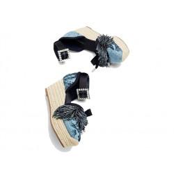marc jacobs sandales Sandales CompenséesJAC COMP POMPON - TISSUS IMPRIMÉ