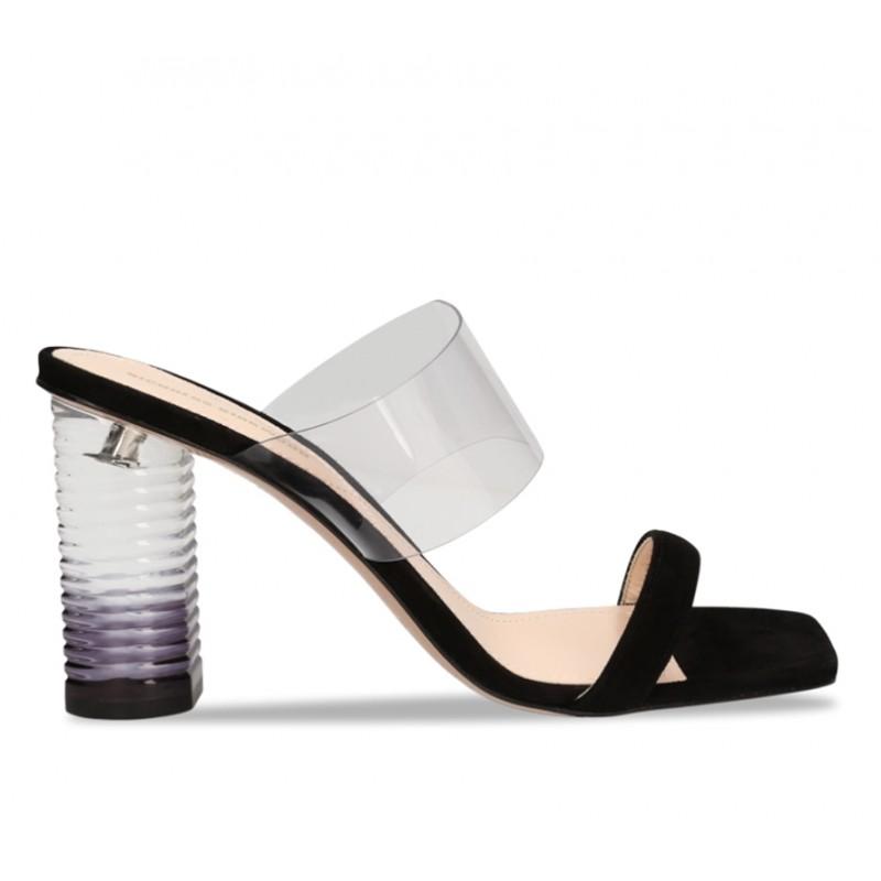 nicholas kirkwood promotions sandales Sandales PeggyK PEGGY MULE T85 - NUBUCK ET VIN