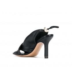 nicholas kirkwood promotions sandales Sandales DelfiK DELFI SAND T9 - CUIR - NOIR